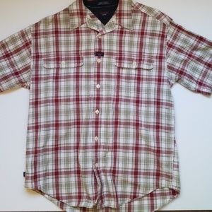 Tommy Jeans men's Large Flannel Button Down Polo